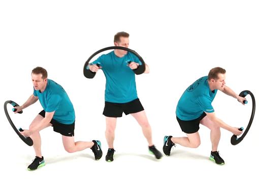 Diagonal Lunge Twist, Arcufit Exercises